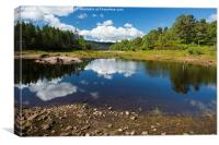 Reflections in Glen Affric, Canvas Print