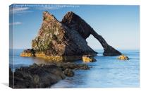 Evening light on Bowfiddle Rock, Canvas Print