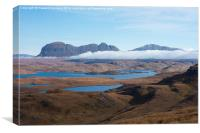 Suilven from the foothills of Stac Pollaidh, Canvas Print