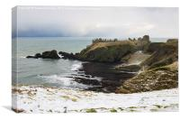 Dunnottar in Winter, Canvas Print