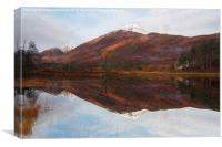 Affric Reflections, Canvas Print