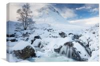 Buachaille Etive Mor and River Coupall, Canvas Print