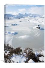 Frozen Loch Ba, Canvas Print