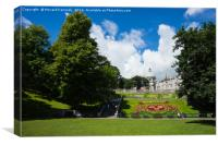 Union Terrace Gardens, Canvas Print