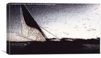 Faluca and sail , Canvas Print