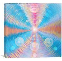 Blue trine vortex, Canvas Print