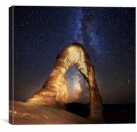 Milky Way at Delicate Arch, Canvas Print