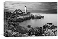 Portland Head Lighthouse during sunset, Canvas Print
