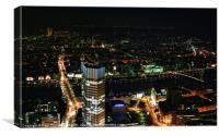 Frankfurt by Night, Canvas Print