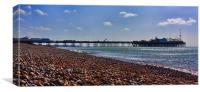 Brighton Pier & Beach, Canvas Print