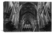 Salisbury Cathedral - interior, Canvas Print