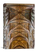 Salisbury Cathedral - ceiling, Canvas Print