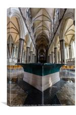 Salisbury Cathedral Font, Canvas Print