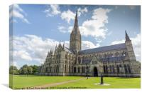 Salisbury Cathedral - exterior, Canvas Print