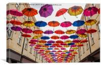 Umbrellas in Bath, Canvas Print