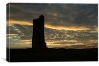 Castle Hill last light, Canvas Print