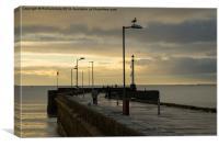 Bridlington Harbor Pier, Canvas Print