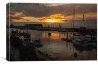 Bridlington Harbor, Canvas Print