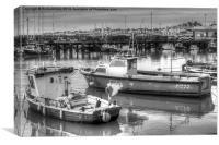 Bridlington Harbor boats, Canvas Print