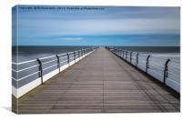 Windy Pier, Canvas Print
