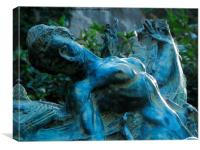 Sensuality of a sculpture, Canvas Print