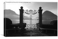 Gates by the Lake , Canvas Print