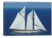 Elena of London, Super Yacht, Canvas Print
