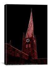 The Crooked Spire of Chesterfield, Canvas Print