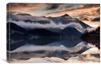 Mountain sunset, Canvas Print