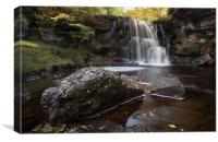 East Gill Waterfall , Canvas Print