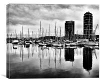 Boats reflection , Canvas Print