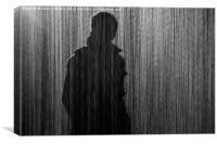 Stranger in the rain, Canvas Print
