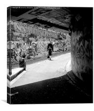 The urban walkway of everyday life, Canvas Print