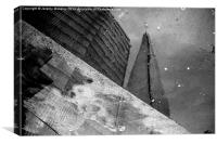 The Shard as seen in a puddle, Canvas Print