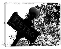 Parisian metro sign, Canvas Print