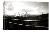 A view from Camber Sands. , Canvas Print