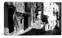 Street Scene, Ibiza. , Canvas Print