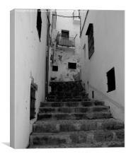 Ibiza steps to nowhere., Canvas Print
