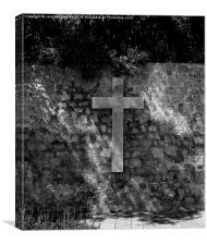 Cross, Ibiza. , Canvas Print
