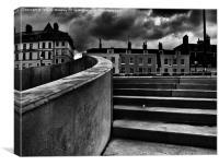 Dark skies, Margate. , Canvas Print