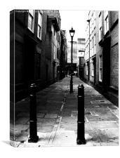 London, Alleyway, Canvas Print