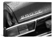 Mercedes 280SE, Canvas Print