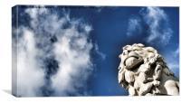 Lion Statue, London. , Canvas Print