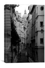 Street Scene, Paris. , Canvas Print
