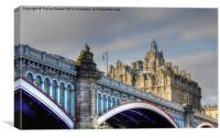Edinburgh North Bridge, Canvas Print