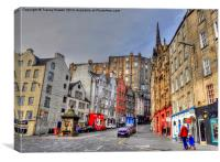 Edinburgh Cockburn Street, Canvas Print