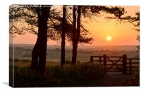 Sunset over Gateway, Canvas Print