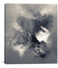 A break in the clouds, Canvas Print