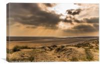 Camber Sands Sunlight, Canvas Print