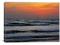 Sunset in Arabian Sea, Canvas Print